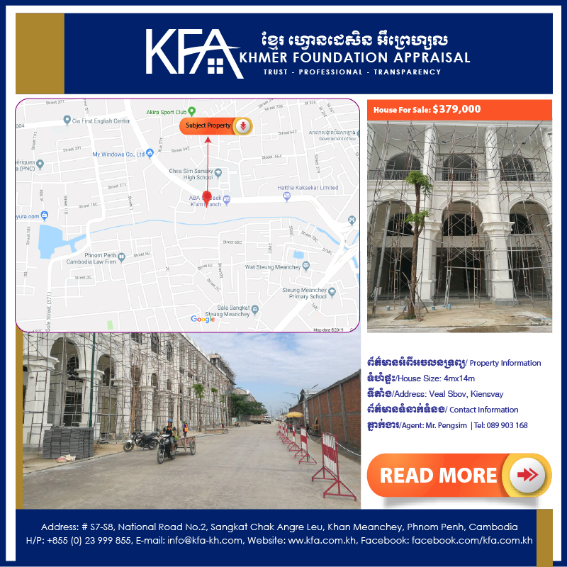 Welcome to Khmer Foundation Appraisals, Cambodia